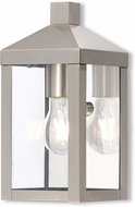Livex 20581-91 Nyack Brushed Nickel Exterior Lamp Sconce