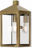Livex 20582-01 Nyack Antique Brass Outdoor Wall Sconce Lighting