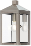 Livex 20582-91 Nyack Brushed Nickel Exterior Wall Lighting Sconce