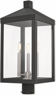 Livex 20586-04 Nyack Black Exterior Post Lamp