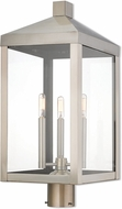 Livex 20586-91 Nyack Brushed Nickel Exterior Post Light