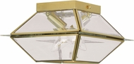 Livex 2184-02 Westover Polished Brass Outdoor Ceiling Light Fixture
