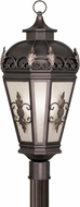 Livex 2197-07 Berkshire Traditional Bronze Exterior Pole Lighting Fixture