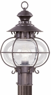 Livex 2224-07 Harbor Nautical Bronze Outdoor Post Lamp