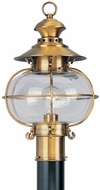 Livex 2224-22 Harbor Nautical Flemish Brass Exterior Lamp Post Light