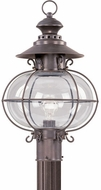 Livex 2226-07 Harbor Nautical Bronze Outdoor Post Light