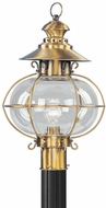 Livex 2226-22 Harbor Nautical Flemish Brass Exterior Lighting Post Light