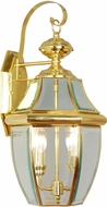 Livex 2251-02 Monterey Polished Brass Exterior Sconce Lighting