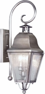 Livex 2551-29 Amwell Vintage Pewter Exterior Light Sconce