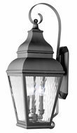 Livex 2605-04 Exeter Black Exterior Wall Light Fixture