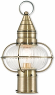 Livex 27002-01 Newburyport Nautical Antique Brass Outdoor Post Lighting