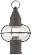 Livex 27002-07 Newburyport Nautical Bronze Exterior Post Lamp