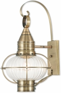 Livex 27004-01 Newburyport Nautical Antique Brass Outdoor Wall Light Sconce