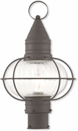 Livex 27005-07 Newburyport Nautical Bronze Exterior Post Light