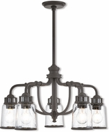 Livex 40025-07 Lawrenceville Contemporary Bronze Mini Chandelier Lighting