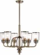 Livex 40026-01 Lawrenceville Contemporary Antique Brass Chandelier Lamp