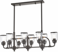Livex 40028-07 Lawrenceville Contemporary Bronze Kitchen Island Lighting