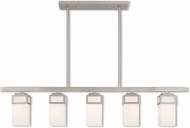Livex 40194-91 Harding Contemporary Brushed Nickel 5-Light Kitchen Island Lighting