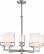 Livex 40195-91 Harding Modern Brushed Nickel 25  Chandelier Light
