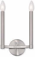 Livex 40242-91 Alpine Modern Brushed Nickel Sconce Lighting