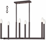 Livex 40256-07 Alpine Modern Bronze Island Lighting