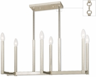 Livex 40256-35 Alpine Contemporary Polished Nickel Kitchen Island Lighting