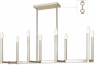 Livex 40258-35 Alpine Contemporary Polished Nickel Island Light Fixture