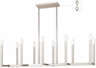 Livex 40259-35 Alpine Contemporary Polished Nickel Island Lighting