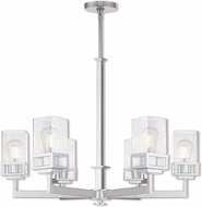 Livex 40596-05 Harding Contemporary Polished Chrome 29  Chandelier Lighting