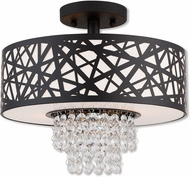 Livex 40662-07 Allendale Bronze 13  Flush Mount Light Fixture