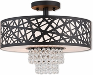 Livex 40663-07 Allendale Bronze 15  Flush Mount Lighting Fixture