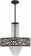 Livex 40665-07 Allendale Bronze 18  Drum Pendant Hanging Light