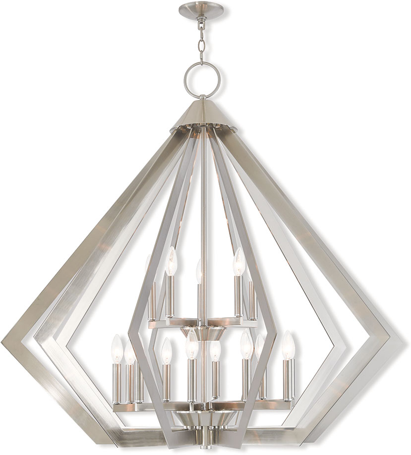 Livex 40928 91 Prism Contemporary Brushed Nickel