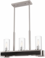 Livex 41073-91 Buttonwood Contemporary Brushed Nickel Kitchen Island Lighting