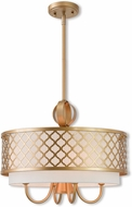 Livex 41104-33 Arabesque Soft Gold 18  Drum Hanging Light