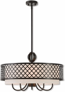 Livex 41116-92 Arabesque English Bronze 24  Drum Pendant Hanging Light