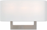 Livex 42402-91 Hayworth Modern Brushed Nickel 16  Wall Light Sconce