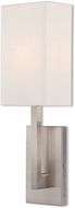 Livex 42411-91 Hayworth Modern Brushed Nickel Wall Sconce Light
