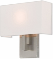 Livex 42412-91 Hayworth Contemporary Brushed Nickel Wall Sconce