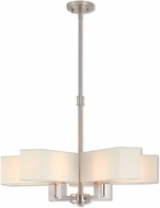Livex 42675-91 Rubix Contemporary Brushed Nickel Chandelier Lamp