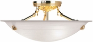 Livex 4273-02 Oasis Polished Brass Ceiling Light