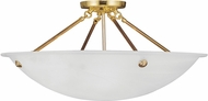 Livex 4275-02 Oasis Polished Brass Ceiling Light Fixture