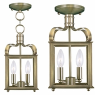 Livex 4312-01 Garfield Antique Brass Foyer Lighting / Ceiling Lighting