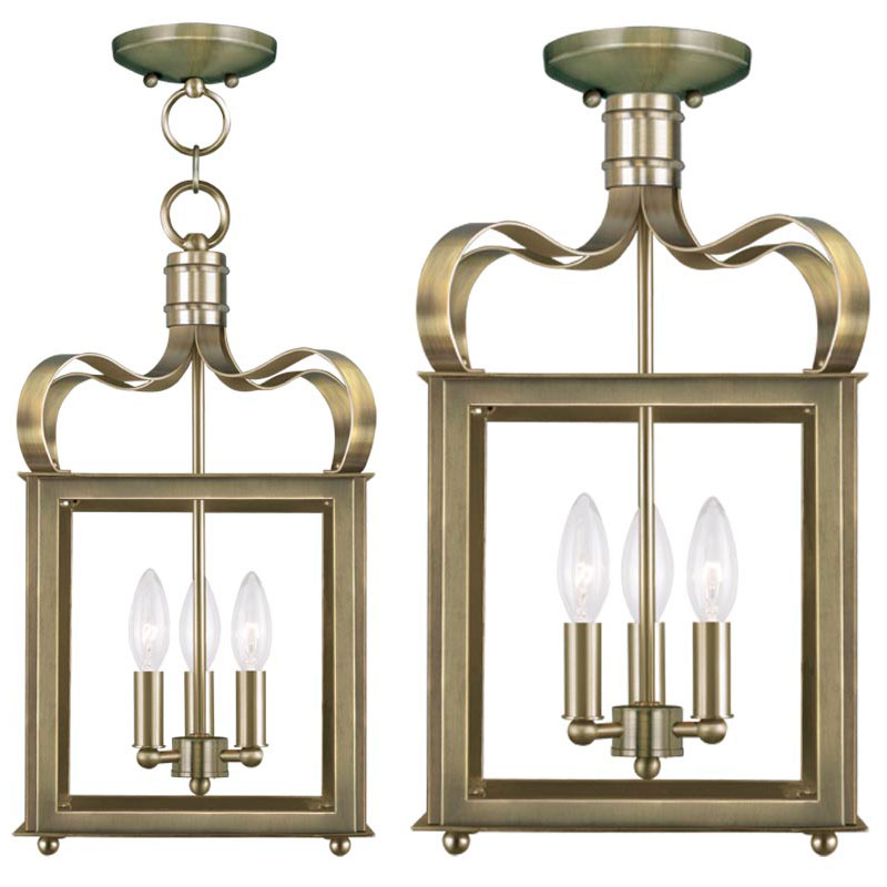 Antique Foyer Lighting Fixtures : Livex garfield antique brass entryway light