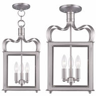 Livex 4313-91 Garfield Brushed Nickel Foyer Light Fixture / Flush Lighting