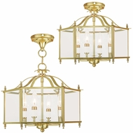 Livex 4398-02 Livingston Polished Brass Foyer Lighting / Ceiling Light
