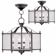 Livex 4398-07 Livingston Bronze Foyer Light Fixture / Ceiling Light Fixture