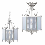 Livex 4403-91 Livingston Brushed Nickel Foyer Lighting Fixture / Flush Mount Ceiling Light Fixture