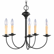 Livex 4455-04 Heritage Black Mini Chandelier Light