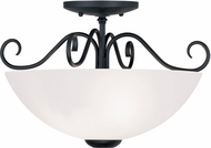 Livex 4461-04 Heritage Black Ceiling Lighting Fixture